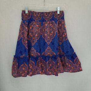 Old Navy Orange and Blue Flair Skirt